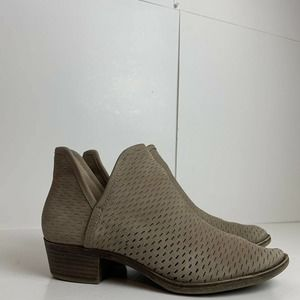 lucky brand womens Leather ankle booties